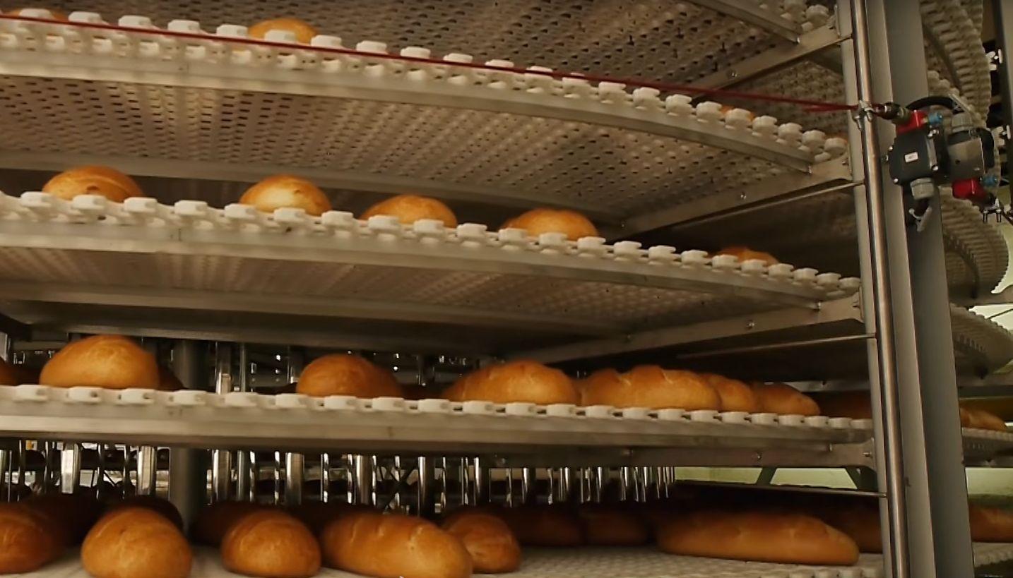 схема линии производства формового хлеба