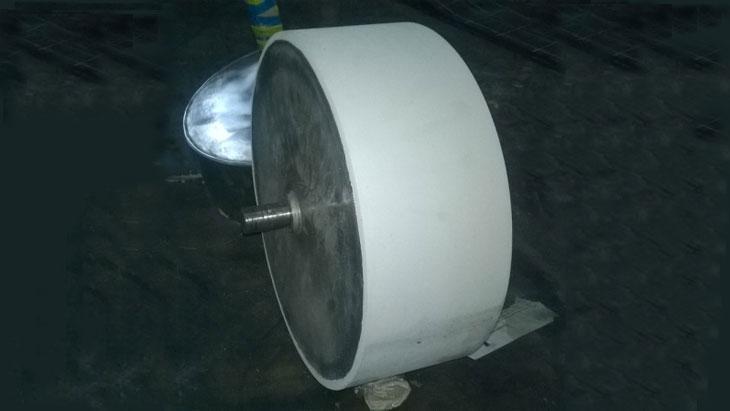 Барабан из нержавеющей стали, футеровка пищевой резиной